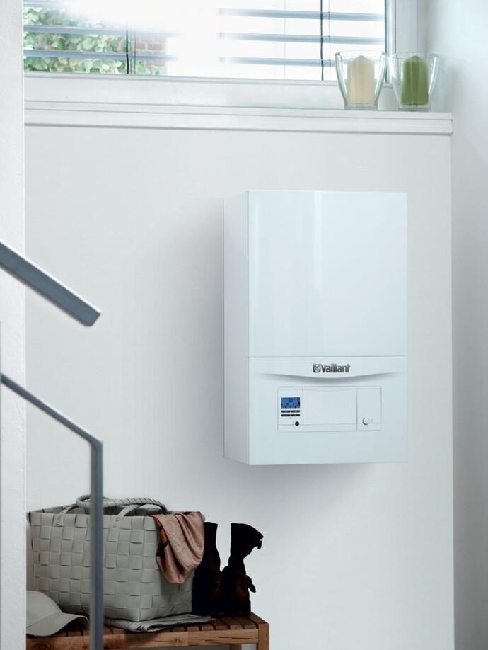 Závěsný plynový kondenzační kotel s ohřevem TV VUW ecoTEC pro