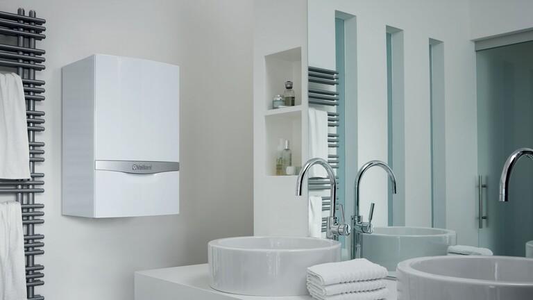 Plynový kotel ecoTEC plus v koupelně